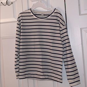 Old Navy Navy-and-white-Striped Long-Sleeve